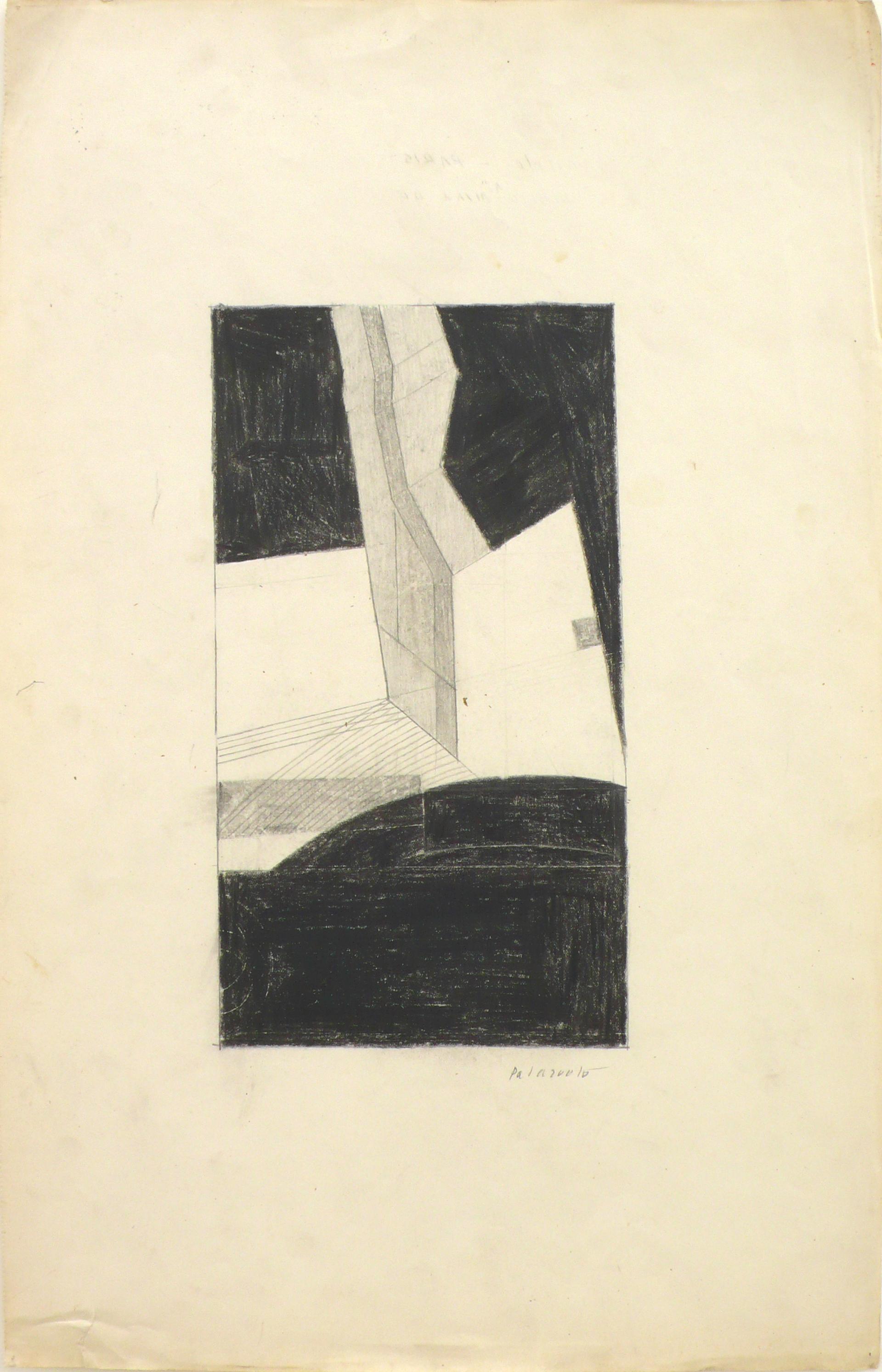 "Dibujo ""Dibujo A"" de Pablo Palazuelo. Lápiz sobre papel. 1951"