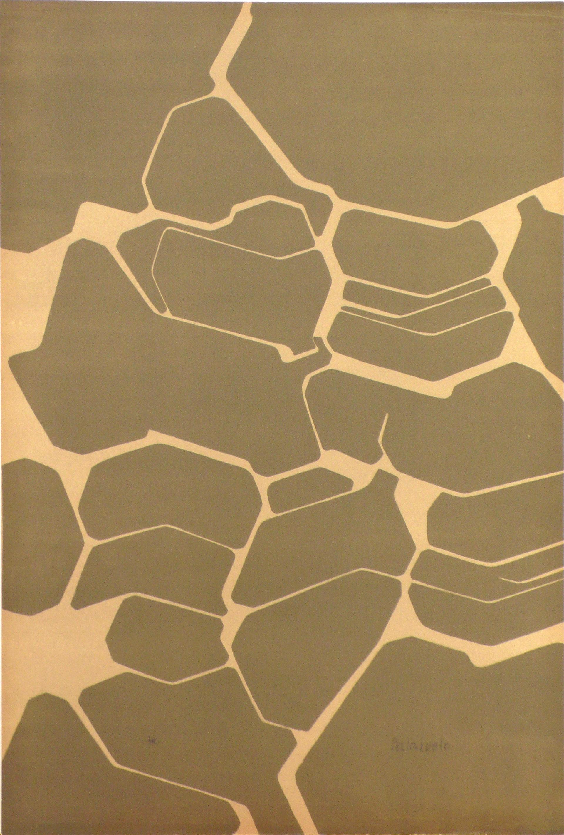 """Obra gráfica """"Tempo gris"""" de Pablo Palazuelo. Litografía sobre papel. 1958"""