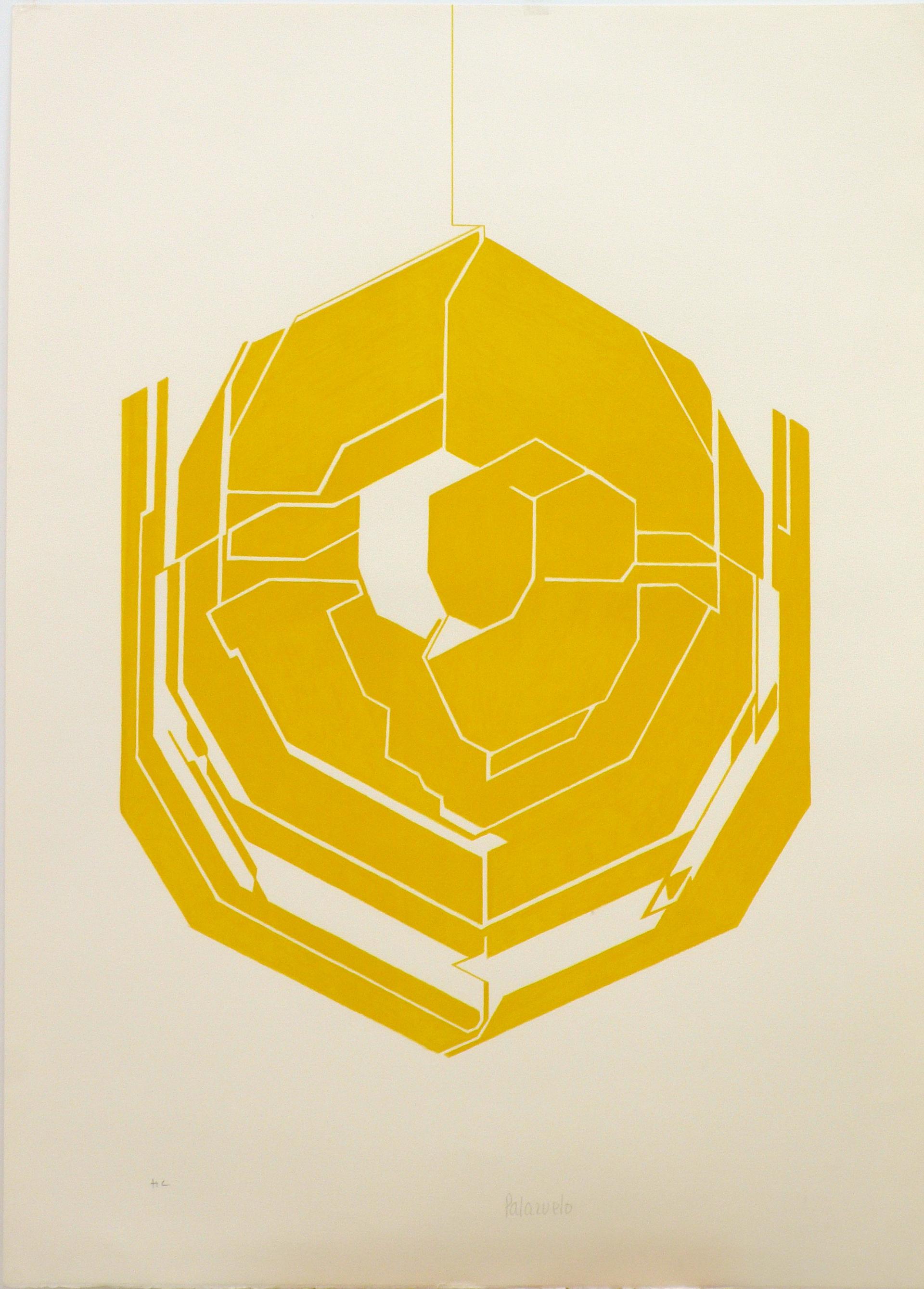 """Obra gráfica """"Emblema I"""" de Pablo Palazuelo. Litografía sobre papel. 1980"""