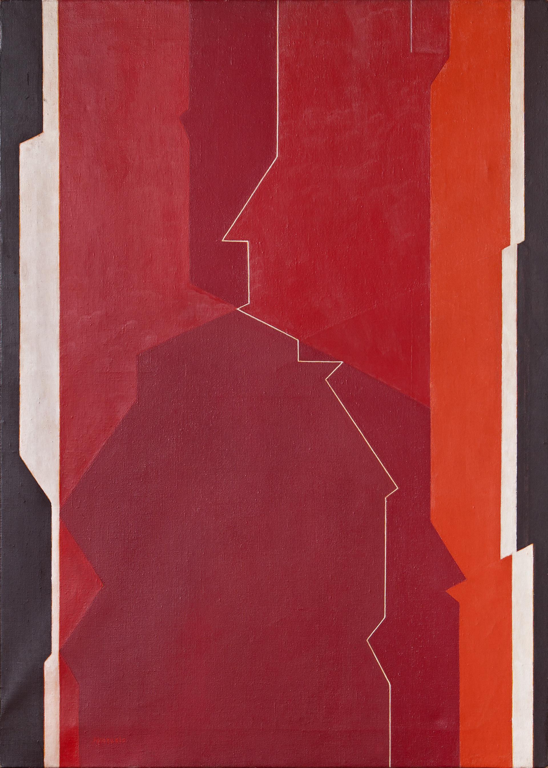 "Pintura ""Smara III"" de Pablo Palazuelo. Óleo sobre lienzo. 1968"