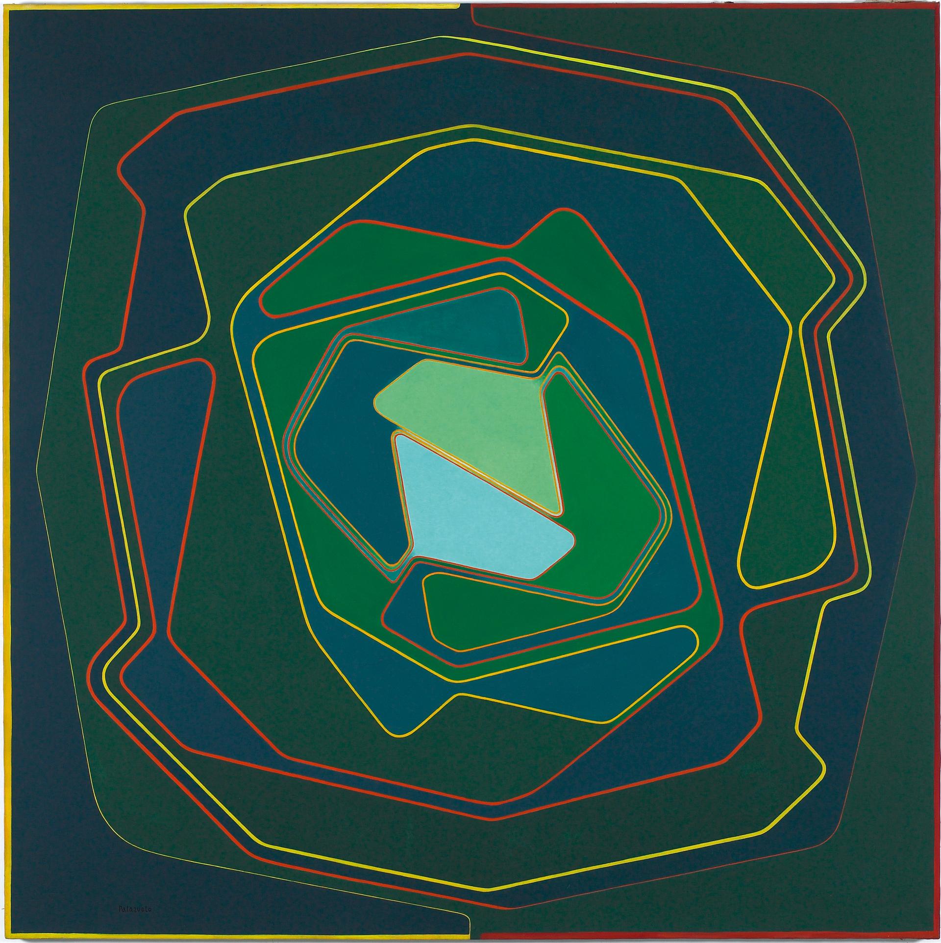 """Pintura """"Monroy I"""" de Pablo Palazuelo. Óleo sobre lienzo. 1974"""