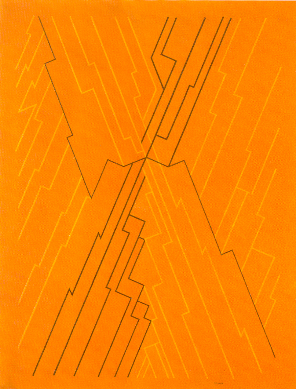"""Pintura """"Conjunctionis VI """" de Pablo Palazuelo. Óleo sobre lienzo. 1993"""