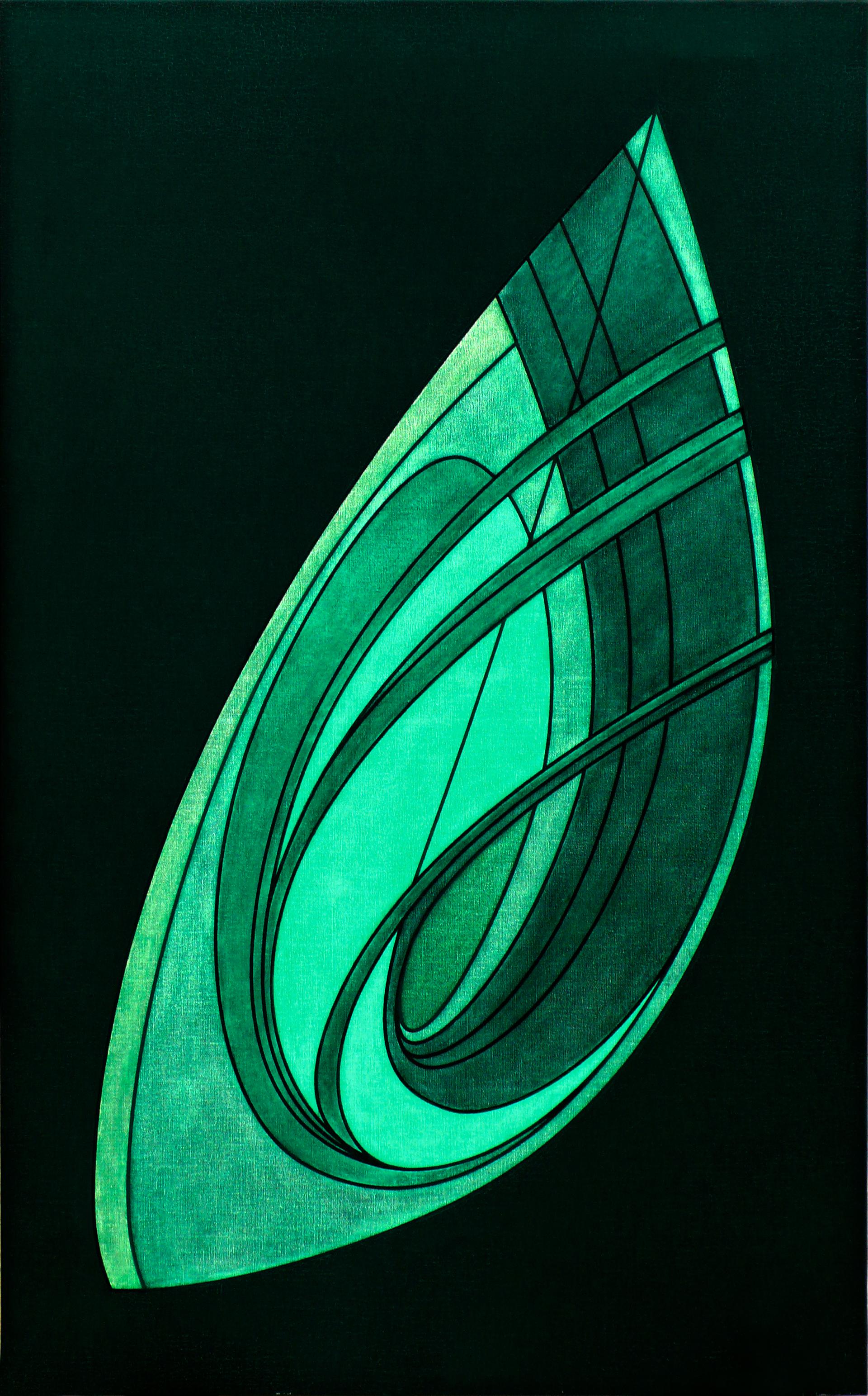 """Pintura """"Sin título"""" de Pablo Palazuelo. Óleo sobre lienzo. 2004"""