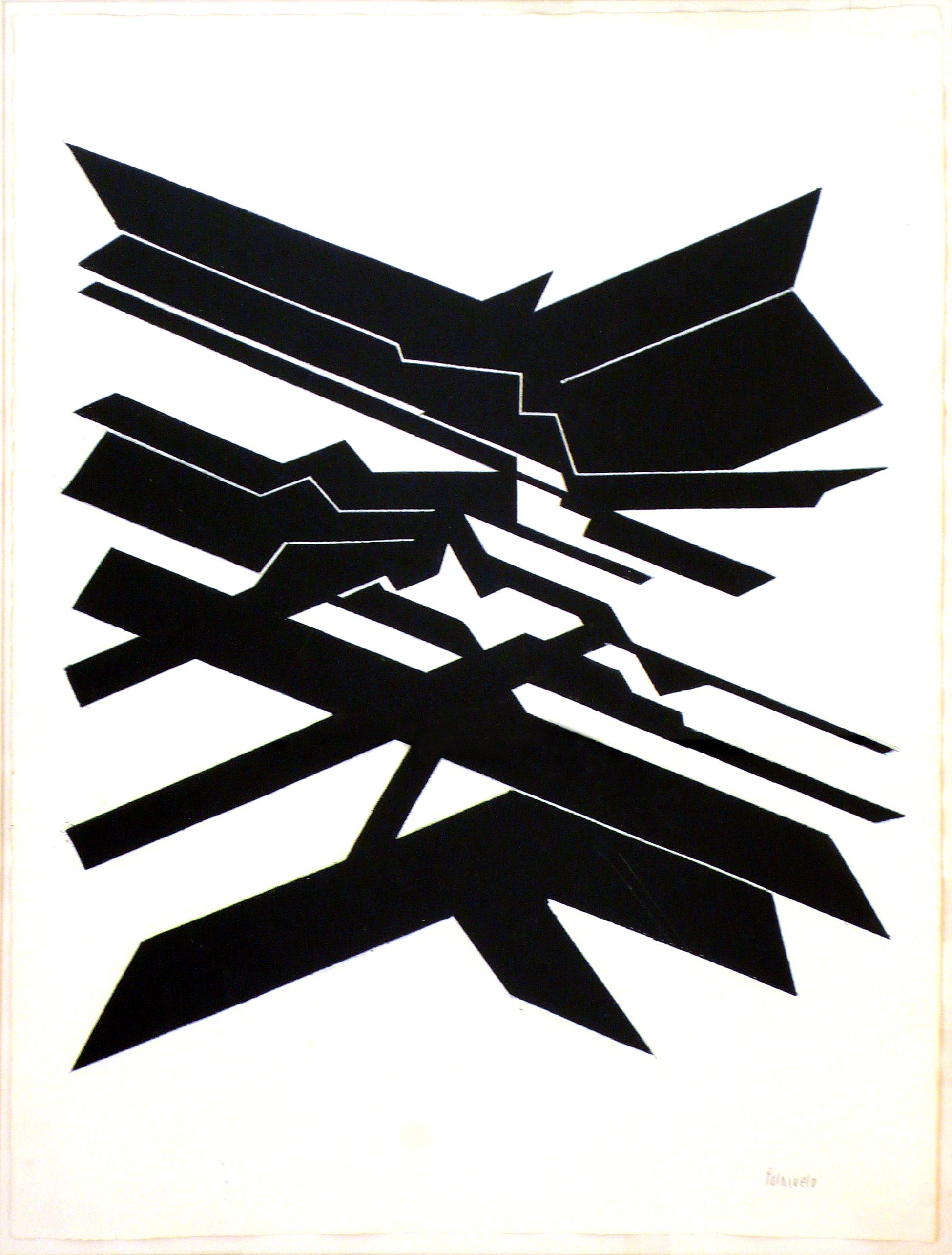 """Dibujo """"Sydus XII"""" de Pablo Palazuelo. Gouache sobre papel. 1997"""