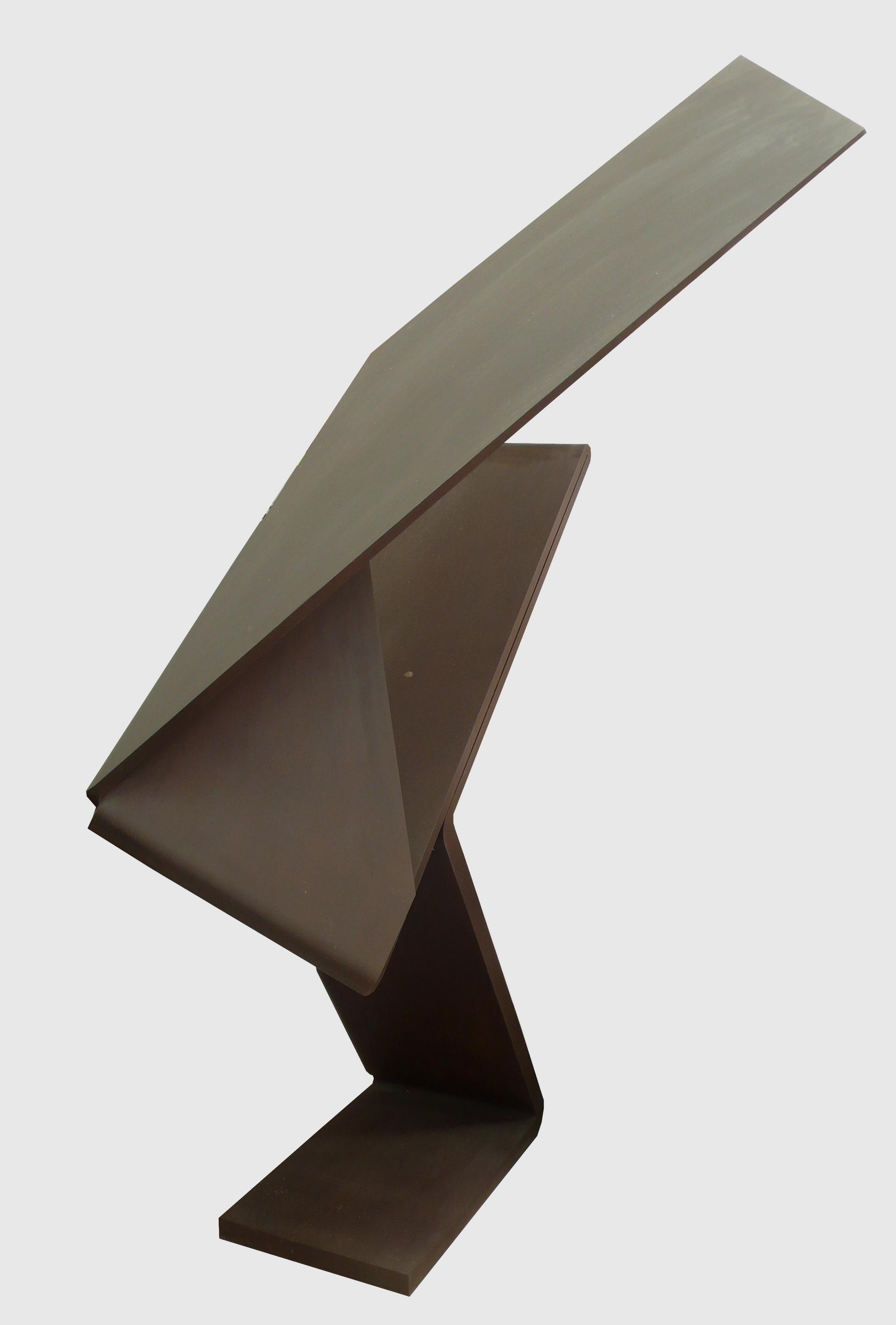 """Escultura """"Días de Junio"""" de Pablo Palazuelo. Acero corten. 1990"""