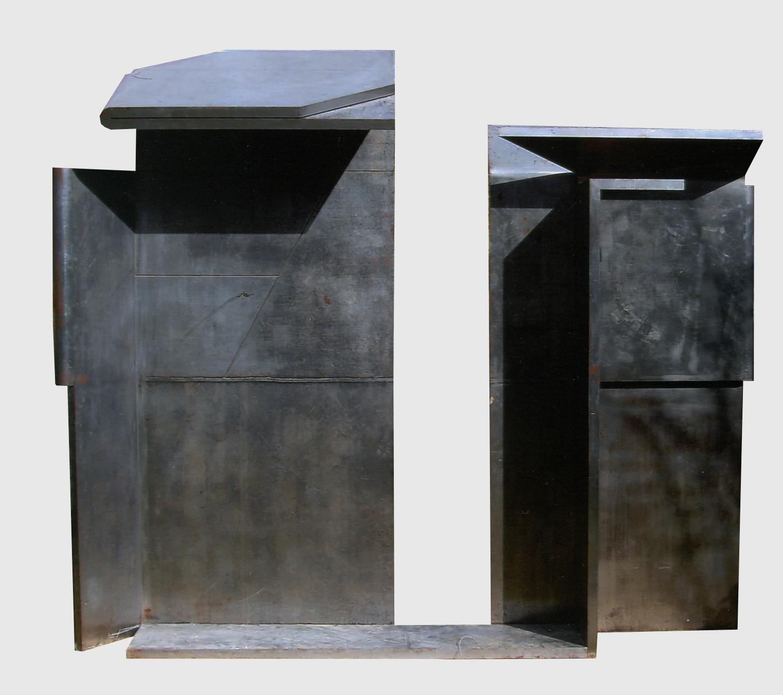 "Escultura ""Difronte I"" de Pablo Palazuelo. Acero. 1986"