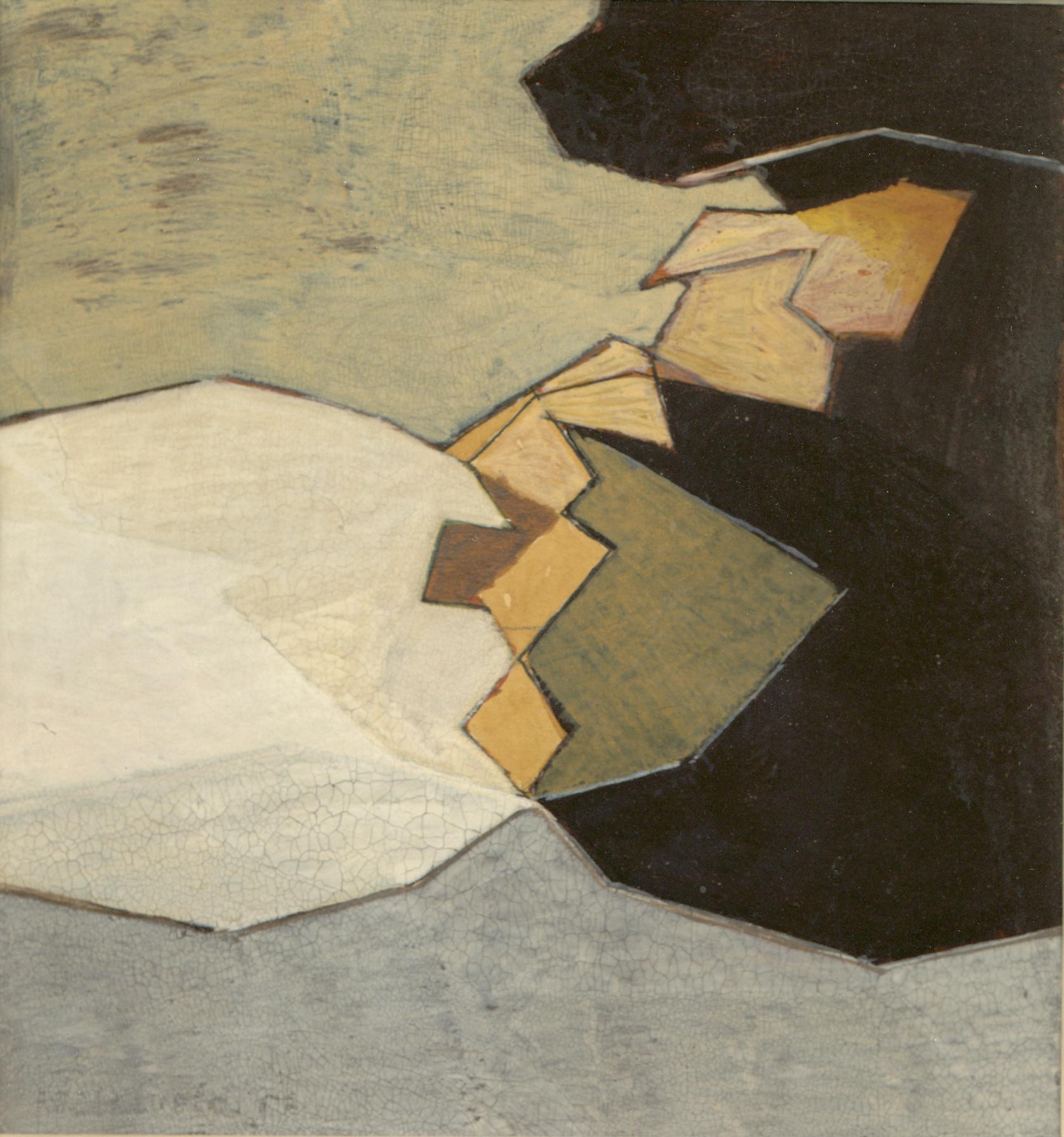 """Acuarela """"Sin título"""" de Pablo Palazuelo. Acuarela sobre papel. 1957"""