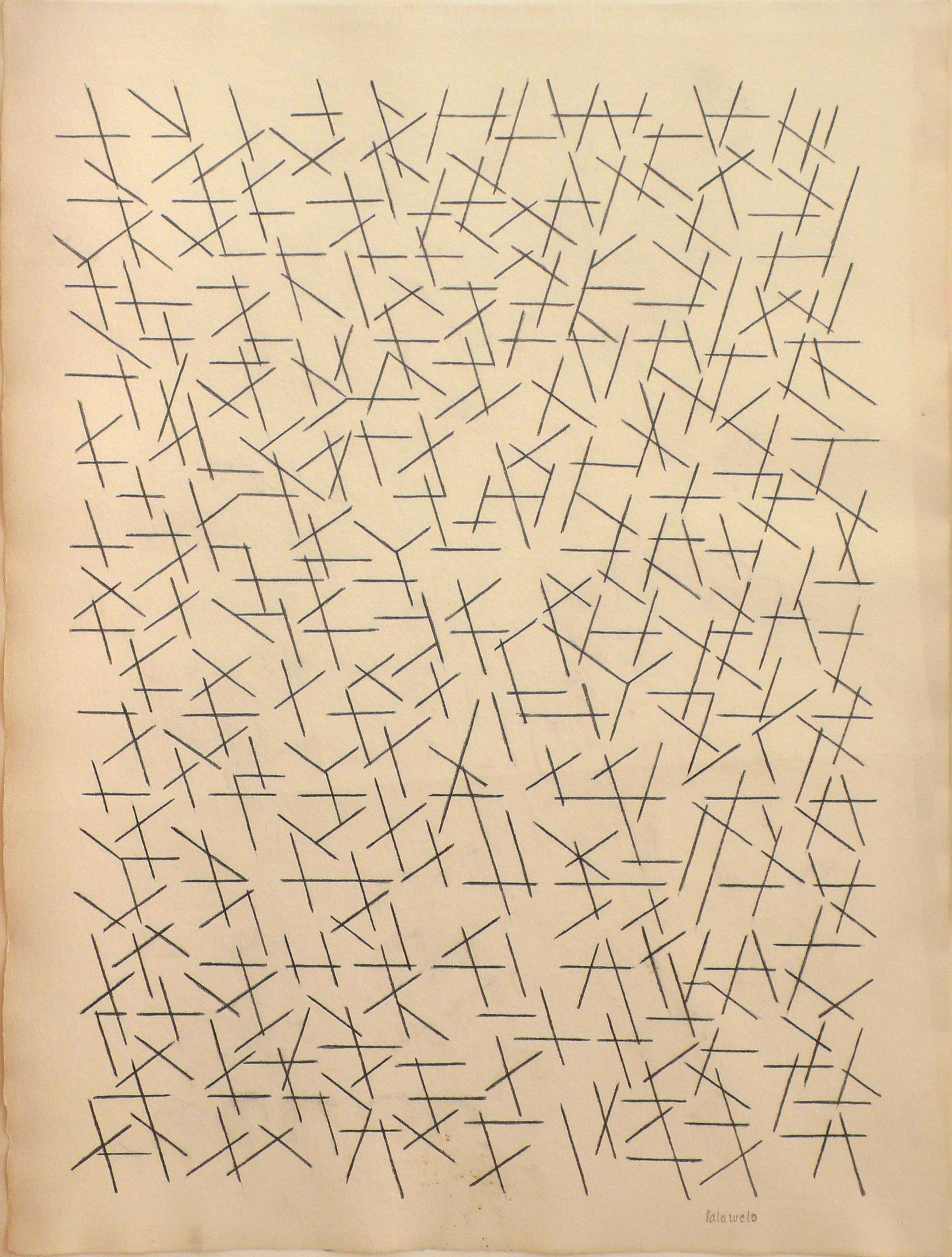 """Dibujo """"Septiembre nº3"""" de Pablo Palazuelo. Lapiz sobre papel. 1991"""